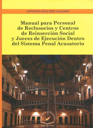 MANUAL PARA PERSONAL DE RECLUSORIOS Y CENTROS DE REINSERCIÓN SOCIAL