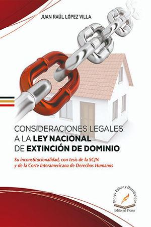 CONSIDERACIONES LEGALES A LA LEY NACIONAL DE EXTINCIÓN DE DOMINIO
