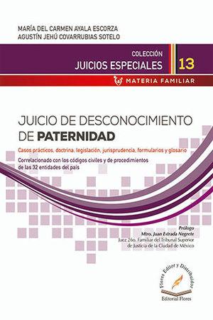 JUICIO DE DESCONOCIMIENTO DE PATERNIDAD # 13