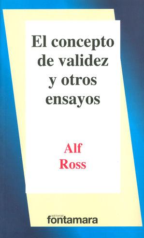 CONCEPTO DE VALIDEZ Y OTROS ENSAYOS, EL