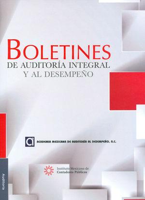 BOLETINES DE AUDITORÍA INTEGRAL Y AL DESEMPEÑO