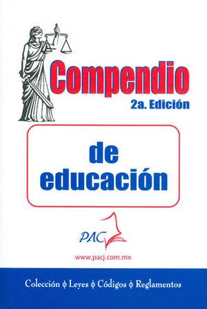 COMPENDIO DE EDUCACIÓN. 2A EDICIÓN