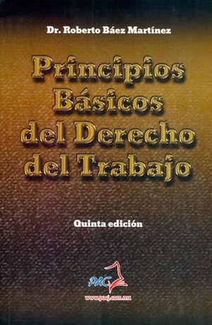 PRINCIPIOS BÁSICOS DEL DERECHO DEL TRABAJO. QUINTA EDICIÓN