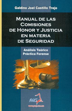 MANUAL DE LAS COMISIONES DE HONOR Y JUSTICIA EN MATERIA DE SEGURIDAD