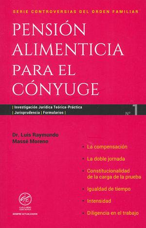 PENSIÓN ALIMENTICIA PARA EL CONYUGE. NÚMERO 1