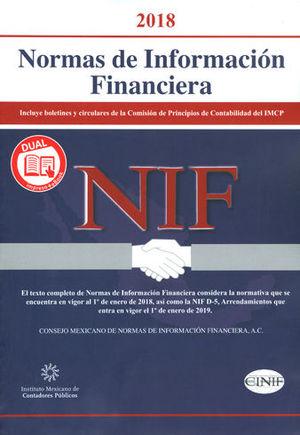 NORMAS DE INFORMACIÓN FINANCIERA. 2018