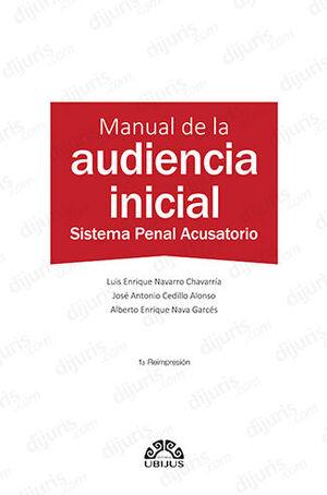 MANUAL DE LA AUDIENCIA INICIAL