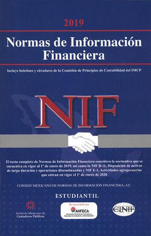 NORMAS DE INFORMACIÓN FINANCIERA VERSIÓN ESTUDIANTIL. 2019 (DUAL)