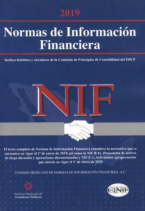 NORMAS DE INFORMACIÓN FINANCIERA. VERSIÓN PROFESIONAL 2019