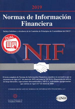 NORMAS DE INFORMACIÓN FINANCIERA 2019. (VERSIÓN DUAL IMPRESO + EBOOK)