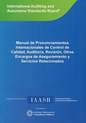 MANUAL DE NORMAS INTERNACIONALES DE CONTROL DE CALIDAD - VOLÚMENES I, II Y III