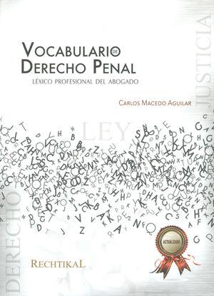 VOCABULARIO DE DERECHO PENAL