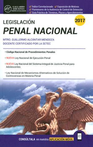 LEGISLACIÓN PENAL NACIONAL 2017