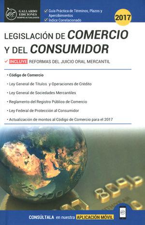 LEGISLACIÓN DE COMERCIO Y DEL CONSUMIDOR 2017