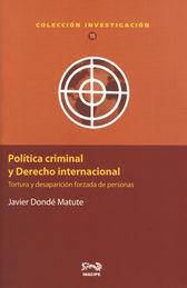 POLITICA CRIMINAL Y DERECHO INTERNACIONAL