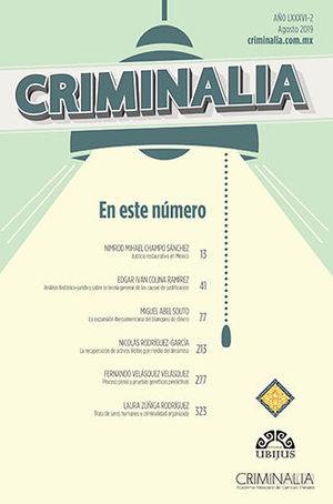 CRIMINALIA AÑO LXXXVI - 02 REVISTA DE LA ACADEMIA MEXICANA DE CIENCIAS PENALES
