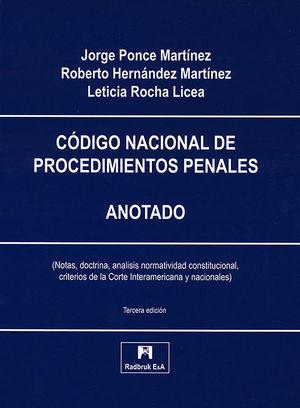 CÓDIGO NACIONAL DE PROCEDIMIENTOS PENALES. ANOTADO