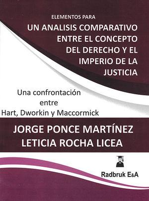 ELEMENTOS PARA UN ANÁLISIS COMPARATIVO ENTRE EL CONCEPTO DEL DERECHO Y EL IMPERIO DE LA JUSTICIA