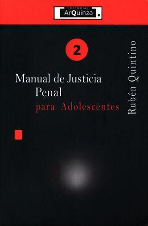 MANUAL DE JUSTICIA PENAL PARA ADOLESCENTES