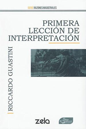 PRIMERA LECCIÓN DE INTERPRETACIÓN