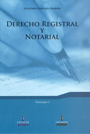DERECHO REGISTRAL Y NOTARIAL  3 TOMOS
