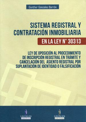 SISTEMA REGISTRAL Y CONTRATACION INMOBILIARIA