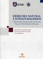 DERECHO NATURAL Y IUSNATURALISMOS