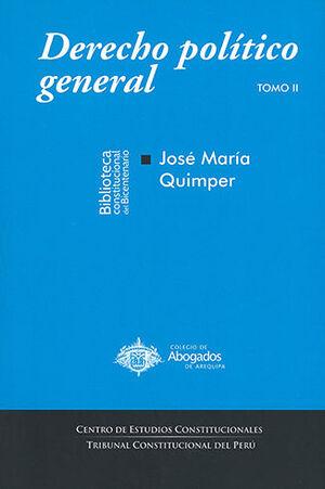 DERECHO POLÍTICO GENERAL. TOMO II