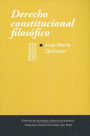 DERECHO CONSTITUCIONAL FILOSÓFICO