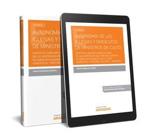 AUTONOMÍA DE LAS IGLESIAS Y SINDICATOS DE MINISTROS DE CULTO (PAPEL + E-BOOK)