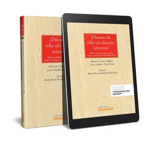 DISCURSO DE ODIO Y/O DISCURSO TERRORISTA (PAPEL + E-BOOK)