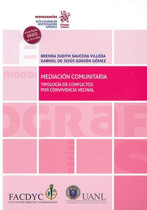 MEDIACIÓN COMUNITARIA TIPOLOGÍA DE CONFLICTOS POR CONVIVENCIA VECINAL