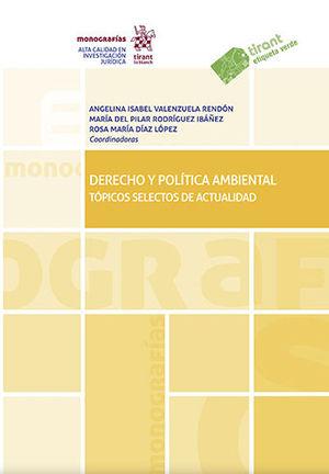 DERECHO Y POLÍTICA AMBIENTAL