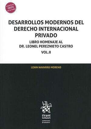 DESARROLLOS MODERNOS DEL DERECHO INTERNACIONAL PRIVADO