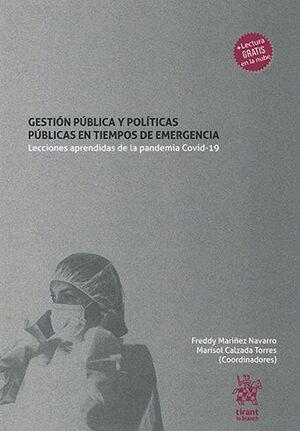 GESTIÓN PÚBLICA Y POLÍTICAS PÚBLICAS EN TIEMPOS DE EMERGENCIA