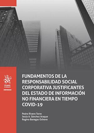 FUNDAMENTOS DE LA RESPONSABILIDAD SOCIAL CORPORATIVA JUSTIFICANTES DEL ESTADO DE INFORMACIÓN NO FINANCIERA EN TIEMPO COVID-19