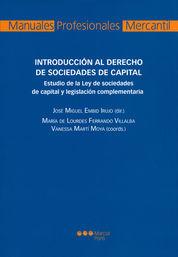 INTRODUCCIÓN AL DERECHO DE SOCIEDADES DE CAPITAL