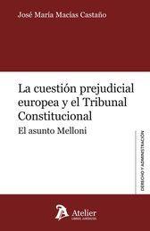 CUESTIÓN PREJUDICIAL EUROPEA Y EL TRIBUNAL CONSTITUCIONAL, LA