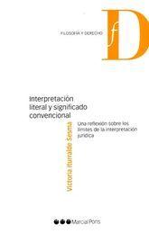 INTERPRETACION LITERAL SIGNIFICADO CONVENCIONAL