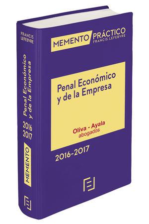 MEMENTO PRÁCTICO PENAL ECONOMICO Y DE EMPRESA 2016-2017