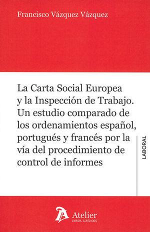 CARTA SOCIAL EUROPEA Y LA INSPECCIÓN DE TRABAJO, LA