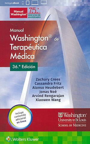 MANUAL WASHINGTON DE TERAPEUTICA MEDICA 36ª ED.