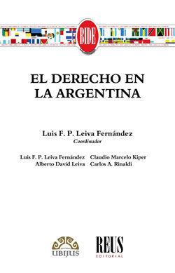 DERECHO EN LA ARGENTINA, EL