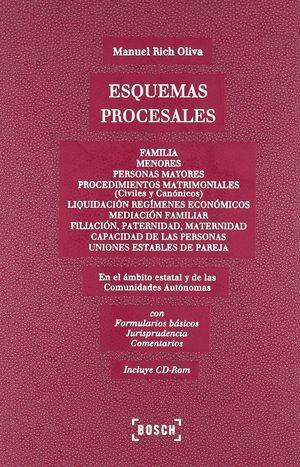 ESQUEMAS PROCESALES. FAMILIA; MENORES; PERSONAS MAYORES; MATRIMONIO; UNIONES EST