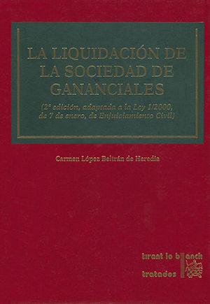 LIQUIDACIÓN DE LA SOCIEDAD DE GANANCIALES, LA