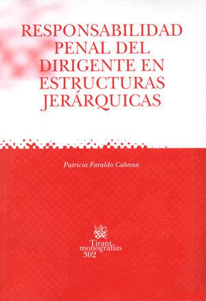 RESPONSABILIDAD PENAL DEL DIRIGENTE EN ESTRUCTURAS JERÁRQUICAS