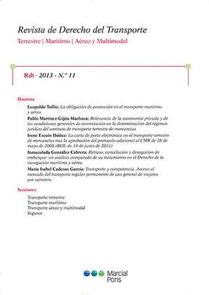 REVISTA DE DERECHO DEL TRANSPORTE. RDT. 2013. N° 11