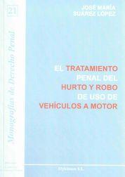 TRATAMIENTO PENAL DEL HURTO Y ROBO DE USO DE VEHÍCULOS A MOTOR, EL