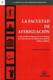 FACULTAD DE AVERIGUACIÓN LA
