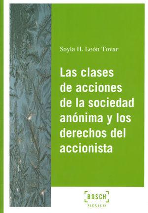 CLASES DE ACCIONES DE LA SOCIEDAD ANÓNIMA Y LOS DERECHOS DEL ACCIONISTA, LAS